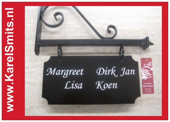 004 Uithangbord Zwart Amsterdam
