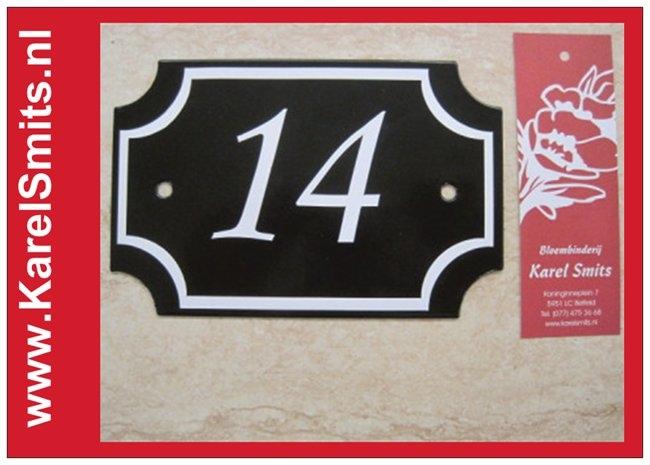 Nostalgisch Huisnummerbord Nijmegen Zwart