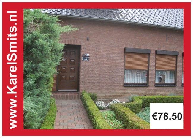 nostalgisch Naambord met Huisnummer Eindhoven AntiekGroen