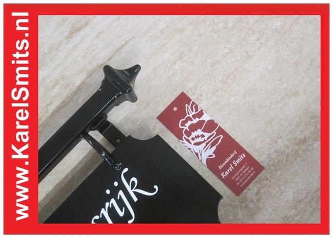 nostalgisch Naambordje Den Haag AntiekGroen