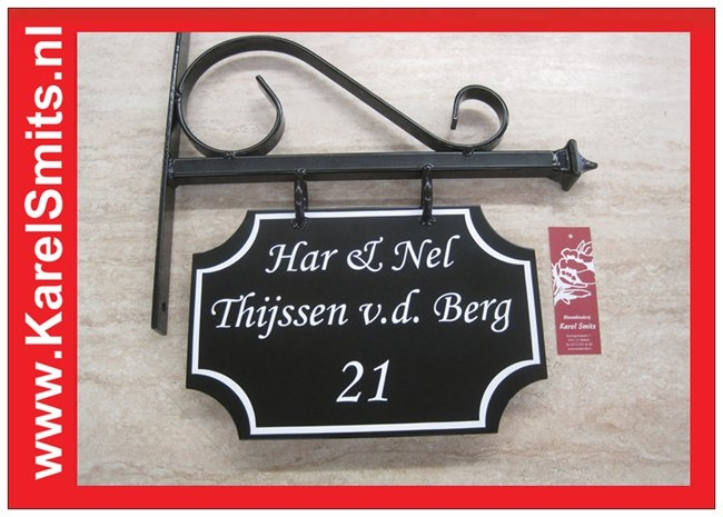nostalgisch Uithangbord Maastricht Zwart