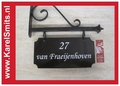 016 Uithangbord Zwart Amsterdam