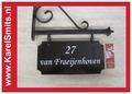 216 Uithangbord Zwart Amsterdam