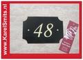 Nostalgisch Huisnummerbord Nijmegen Groen