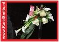 102 Bruidsboeket oplijn Calla Roos Wit