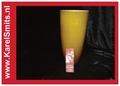 Vaas Glas Oranje Cilinder Taps Groot