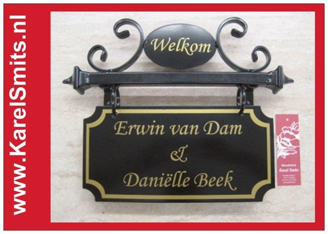 Nostagisch Naambord Eindhoven Zwart