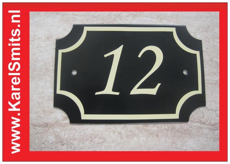 Nostalgisch Huisnummerbord Nijmegen Groen 3250