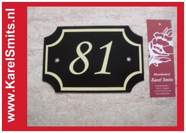 Nostalgisch Huisnummerbord Nijmegen Zwart 3250