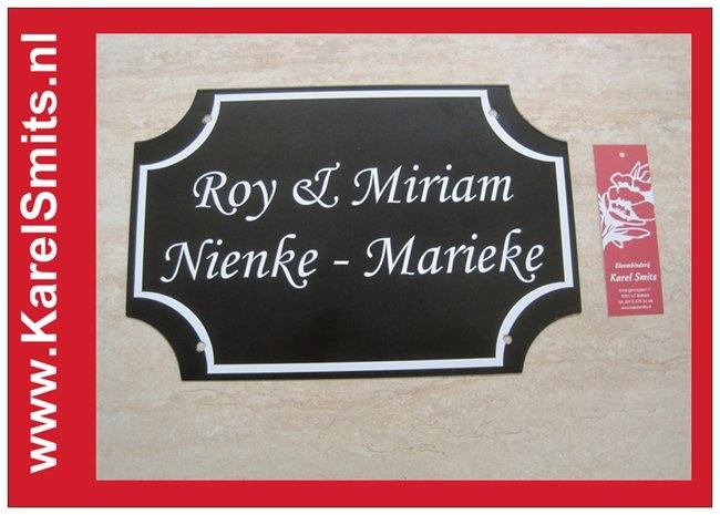 Nostalgische Naamplaat Uden Zwart