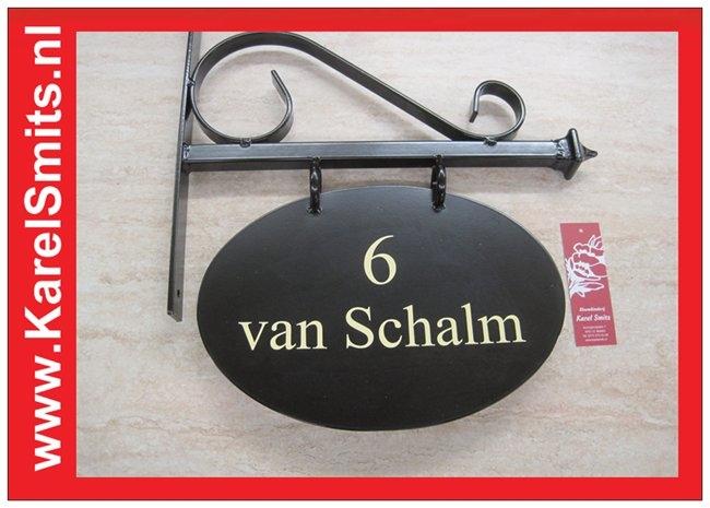 Voorbeelden Uithangbord Ovaal Zwolle Zwart