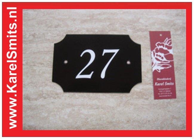 Voorbeelden Huisnummerbord  Nijmegen Zwart