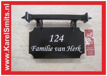 €59,50 Landelijk Naambordje Voordeur Zwart Oss