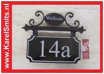 €99,50 Landelijk Naambord Huisnummer Smederij Zwart