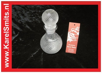 Karaf glas met stop klein