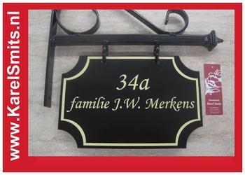 €54,45 Landelijk Uithangbord Bed & Breakfast Voordeur Groen