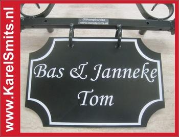 Landelijk Naambord Winkel Voordeur Zwart