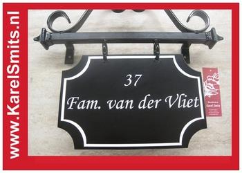€87,95 Landelijk Naambord Site Voordeur Zwart