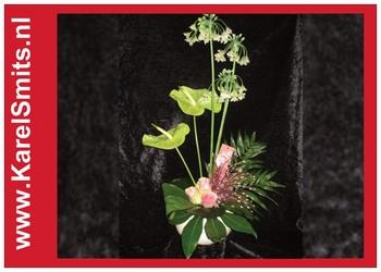 Bloemstuk Klassiek Anthurium Allium 103
