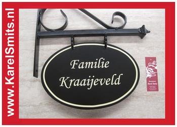 €69,50 Landelijk Uithangbord Ovaal Zwart Famiie