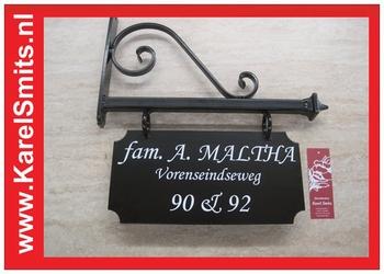 014 Uithangbord Zwart Amsterdam