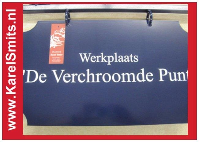 €103,95 Landelijk Uithangbord Groot Voordeur Blauw