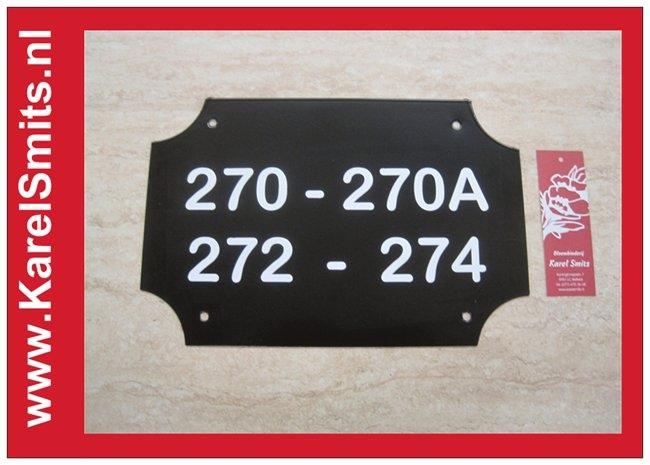 €35,75 Landelijke Naamplaat Voordeur Zwart Kopen