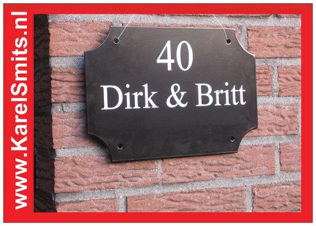 €35,75 Landelijke Naamplaat Voordeur Zwart Winkel