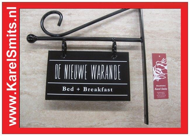 €51,50 Landelijke Uithangbordjes Bed + Breakfast  Zwart