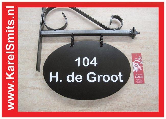 €54,45 Landelijk Uithangbord Ovaal Zwart Amsterdam