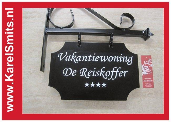 €69,50 Landelijk Uithangbord Hangbeugel Voordeur Zwart