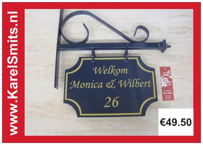 €69,50 Uniek Uithangbord Welkom Voordeur Blauw