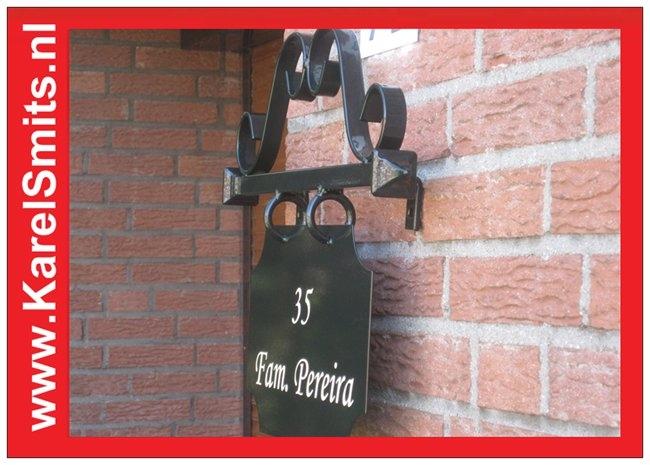 €87,95 Landelijk Naambord Winkel Voordeur Groen