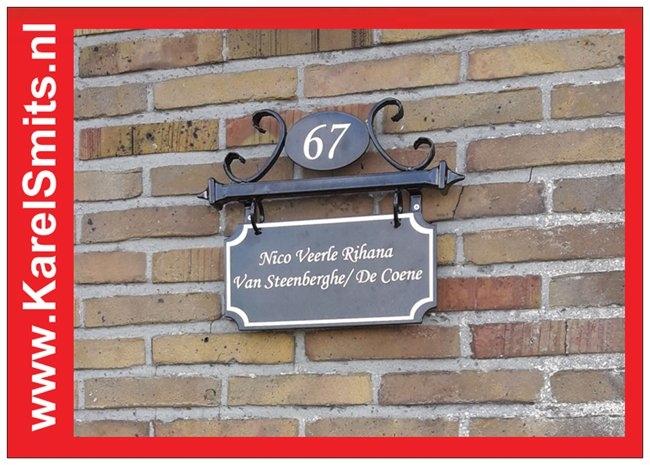 €99,50 Landelijk Naambord Huisnummer Advocaat Zwart
