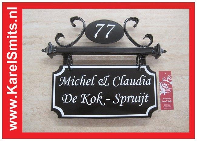 €99,50 Landelijk Naambord Huisnummer Antwerpen Zwart