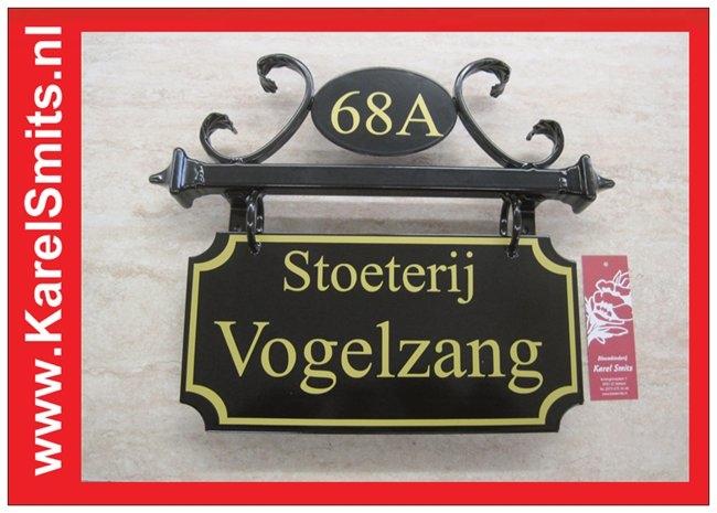 €99,50 Landelijk Naambord Huisnummer jaren 40 stijl Zwart
