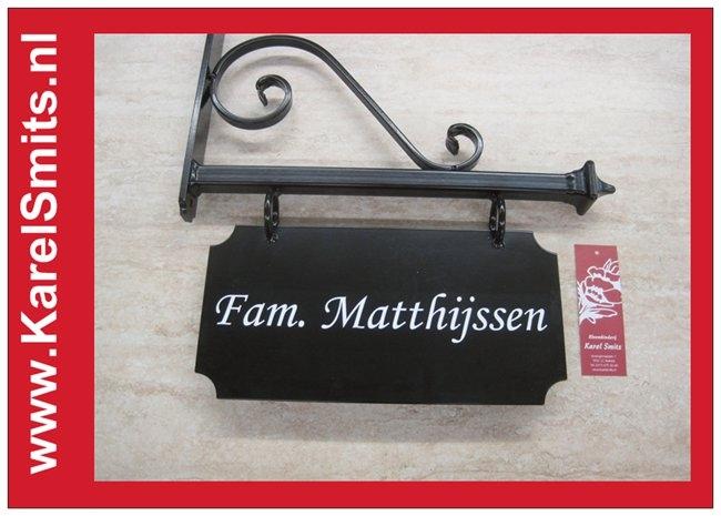 103 Uithangbord Zwart Amsterdam