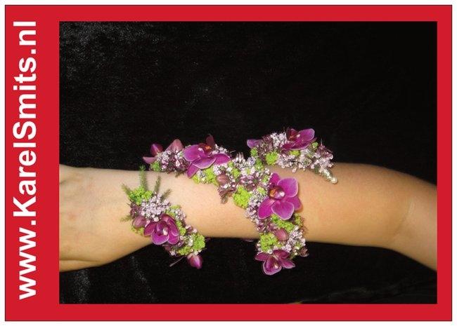 402 Haar Corsage orchidee