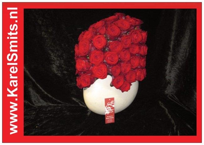 Bloemstuk Modern Rode rozen 403
