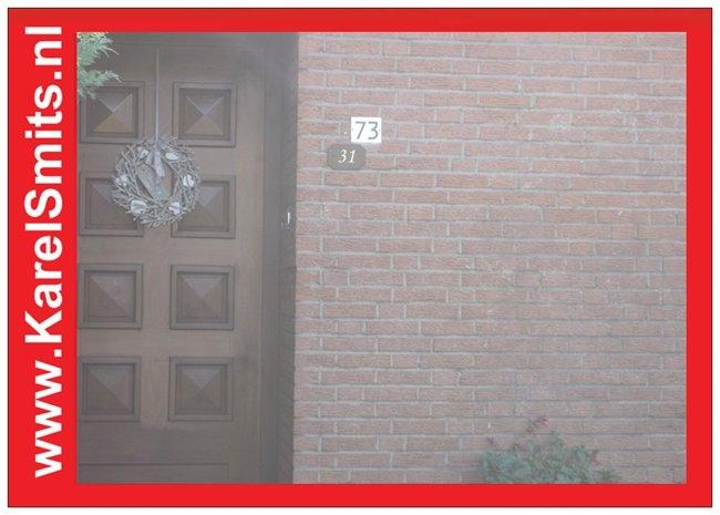 Nostalgisch Huisnummerbord Nijmegen GrachtenGroen