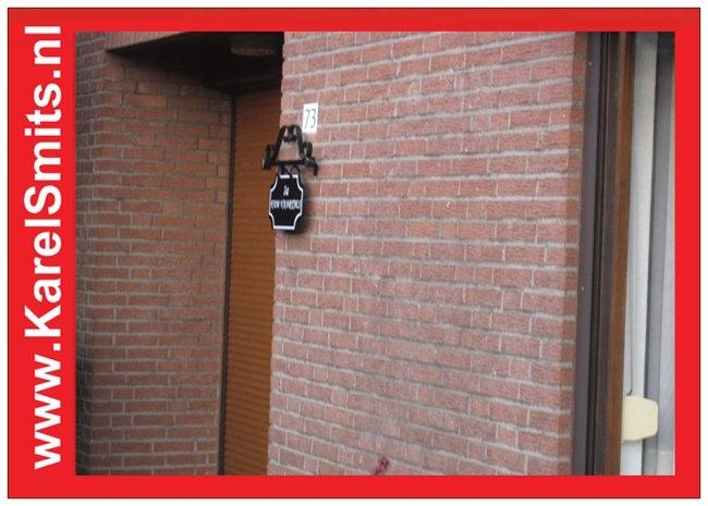Nostalgisch Naambord Leeuwarden Zwart