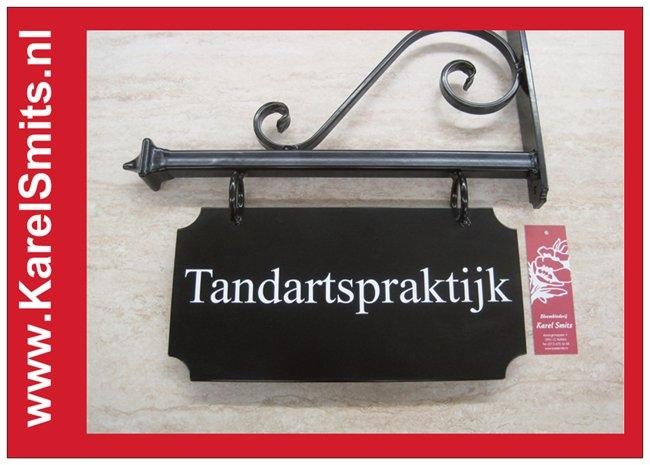 Nostalgisch Uithangbord Amsterdam Zwart