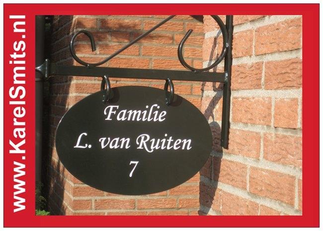 Nostalgisch Uithangbord Ovaal Zwolle GrachtenGroen