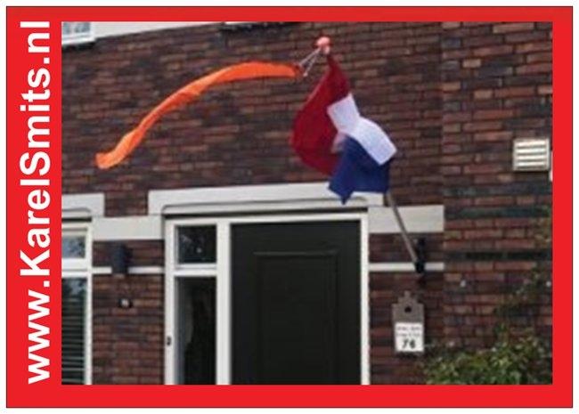 nostalgische Vlaggenstokhouder Dokkum GrachtenGroen