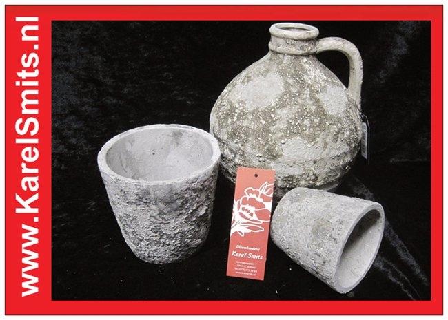 Pot Lenswood Grijs middel Roberts Collection