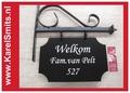 Linten met opdruk voor rouwbloemstuk