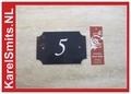 €21,50 Landelijke Huisnummerbordjes 23 Blauw voordeur