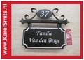 €99,50 Landelijk Naambord Huisnummer Hangend Zwart