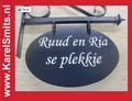 €69,50 Landelijk Uithangbord Ovaal Blauw Nostalgisch