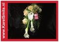 111 Bruidsboeket oplijn Calla Roos Zalm Wit